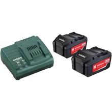 Набор аккумуляторов Metabo 18В 5.2Ач Li-Ion Basic Set 5.2 x2 (685051000)