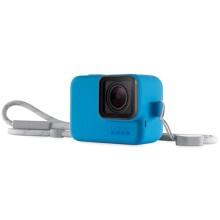 Силиконовый чехол с ремешком GoPro Blue (ACSST-003)