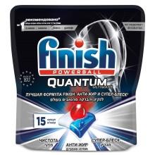 Моющее средство для посудомоечной машины Finish Quantum Ultimate, 15 капсул