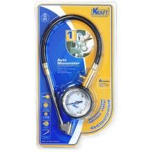 Манометр автомобильный Kraft аналоговый со шлангом (KT 830003)
