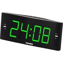 Часы с радио Telefunken TF-1587 Black/Green