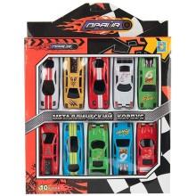 Игровой набор 1toy Драйв, 10 машинок, 8 см (Т10338)