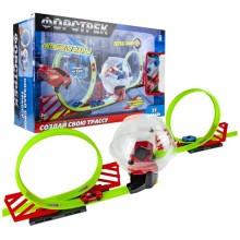 Игровой набор 1toy Форстрек автодром, 2машинки, сфера, 2 виража (Т16060)