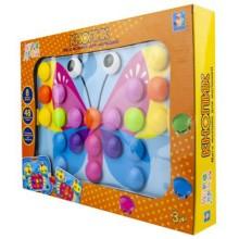 Мозайка 1toy Игродром: Кнопик, 48 кнопок, 8 трафаретов (Т16701)