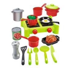 Игровой набор ECOIFFIER 100% Chef: Плита с продуктами, 21 предмет (2649)