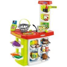 Игровой набор ECOIFFIER 100% Chef: Supershop, с корзиной, 20 предметов (ECO1784)