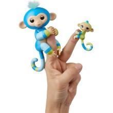 Интерактивная обезьянка FINGERLINGS Билли с малышом, 12 см (3541)