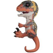 Интерактивный динозавр FINGERLINGS Блейз, зеленый с оранжевым, 12 см (3781)