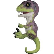 Интерактивный динозавр FINGERLINGS Стелс, зеленый с фиолетовым, 12 см (3782)