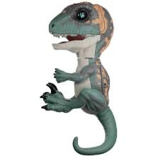 Интерактивный динозавр FINGERLINGS Фури, темно-зеленый с бежевым, 12 см (3783)