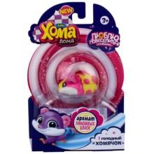 Интерактивная игрушка 1toy Хома Дома: 1 хомячок с ароматом лимонных долек (Т16275)