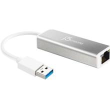 Разветвитель для компьютера J5CREATE USB Type-A 3.0/Gigabit Ethernet (JUE130)