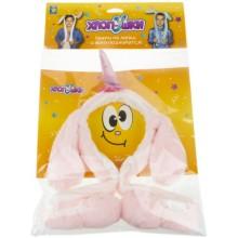Ободок детский 1toy Хлоп-Ушки: Розовый единорог (Т17627)