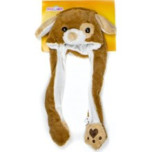 Шапка детская 1toy Хлоп-Ушки: Собака (Т17632)