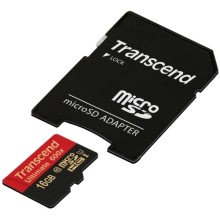 Карта памяти Transcend microSDHC 16Gb UHS-I 600x Ultimate (TS16GUSDHC10U1)