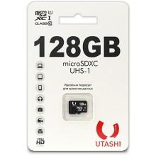 Карта памяти Utashi microSDXC 128GB Class10 UHS-1 (UT128GBSDCL10-00)