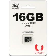 Карта памяти Utashi microSDHC 16GB Сlacc 10 UHS-I (UT16GBSDCL10-00)