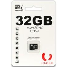 Карта памяти Utashi microSDHC 32GB Сlacc 10 UHS-I (UT32GBSDCL10-00)