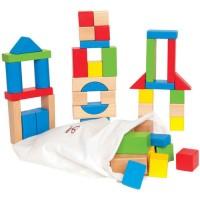 Конструктор HAPE деревянный цветной, 50 элементов (E0409_HP)
