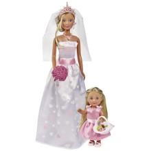 Набор кукол SIMBA Штеффи и Еви: Свадебный день, 29 см (5733334)