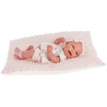 Кукла-младенец ANTONIO-JUAN Глория на розовой подушке, 33 см (6028)
