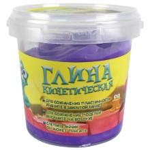 Кинетическая глина 1toy Т11355а, фиолетовая, 200 г