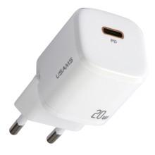 Сетевое зарядное устройство Usams PD20 GaN mini White (CC124TC02)