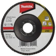 Диск лепестковый Makita 125 X 22, K80 (D-27501)