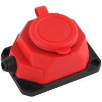 Колодка каучуковая ЭРА K-1e-RED-IP44
