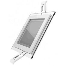 Светодиодный встраиваемый светильник Gauss квадратный с декоративным стеклом, 6W 4000K (948111206)
