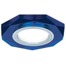 Встраиваемый светильник Gauss Backlight BL055 восьмигранный, синий/хром, Gu5.3, 4100K