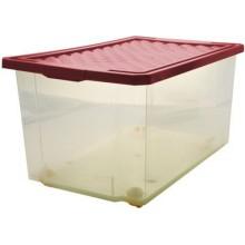 Ящик для хранения Branq Optima, 57 л, на колесах, с крышкой, бордовый (BQ2576БРД)