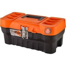 Ящик для инструментов ПЛАСТИК-ЦЕНТР Expert 16'', черный/оранжевый (ПЦ3730/НСРСВ)