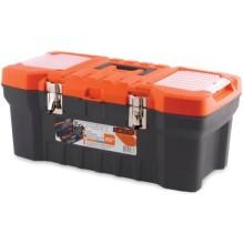 Ящик для инструментов ПЛАСТИК-ЦЕНТР Expert 22'', черный/оранжевый (ПЦ3732-1СРСВ)