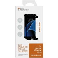 Защитное стекло с рамкой 2.5D InterStep для Huawei Y6 Prime 2018, черная рамка (IS-TG-HUAY6P8FB-000B202)